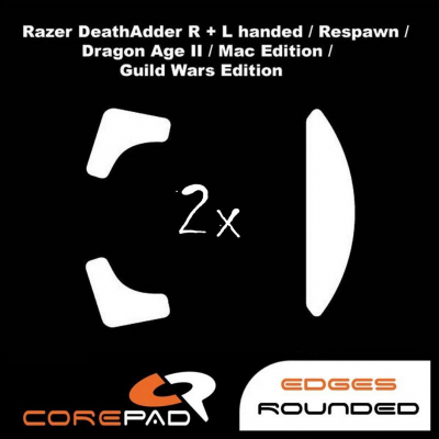 Corepad Skatez PRO  10 Mouse-Feet Razer Death Adder right & left handed / Re-Spawn /2013 / Chroma