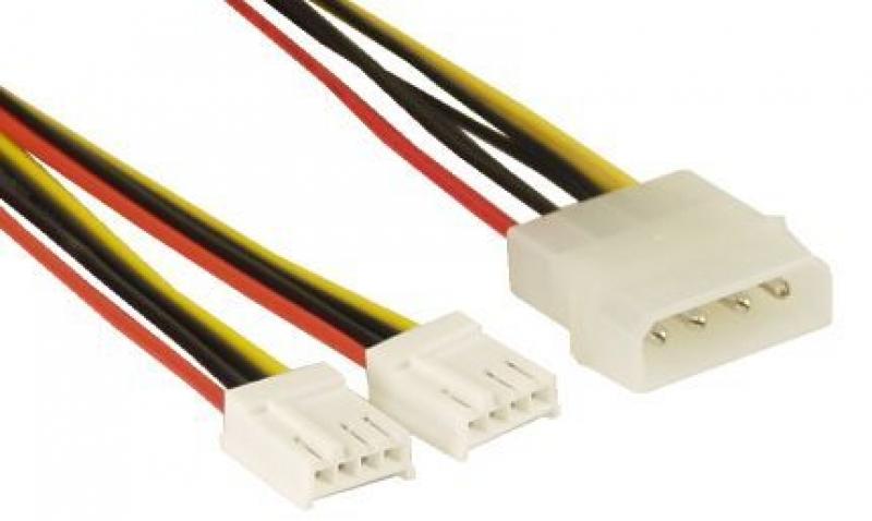 Y-Kabel 4Pin 5,25 [13,34cm] auf 2x 4Pin 3,5 [8,89cm]