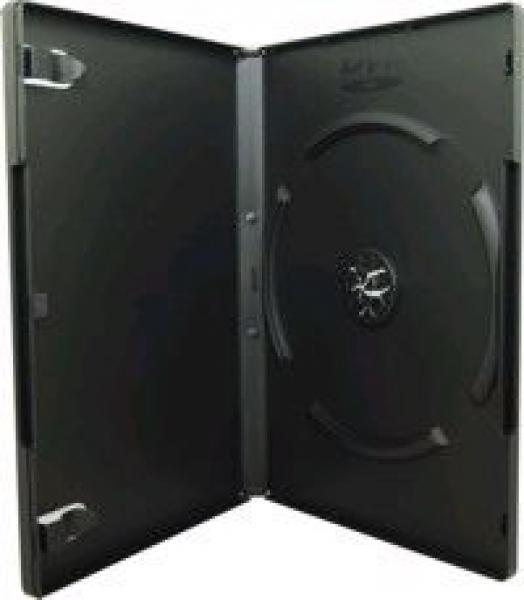 DVD-Box schwarz mit Klarsichtfolie für Einleger