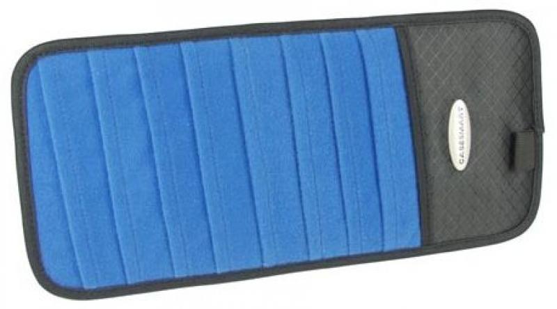 CASESMART CD-Sonnenblenden-Halter blau