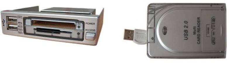 ICY BOX IB-801 8-in-1 Card Reader Mobil USB silber