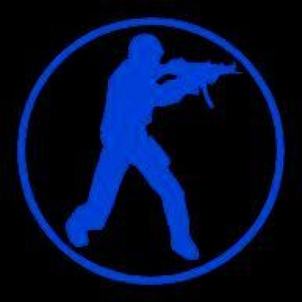 Window-Kit Aufkleber Counter-Strike [18x18cm] UV-Blue