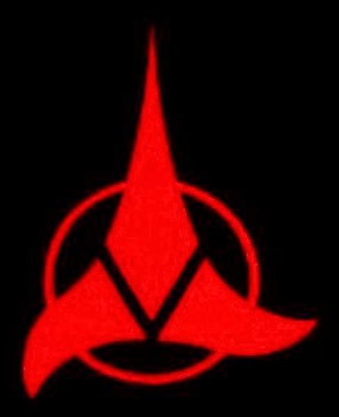 Window-Kit Aufkleber Klingons [18x18cm] UV-Red