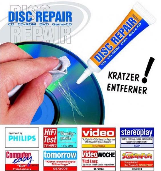 DISC REPAIR Reparaturpaste für CDs & DVDs