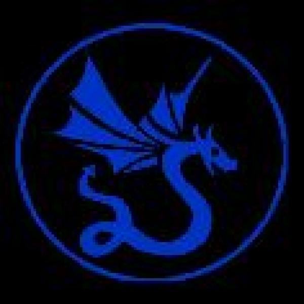 Window-Kit Aufkleber Dragon [18x18cm] UV-Blue