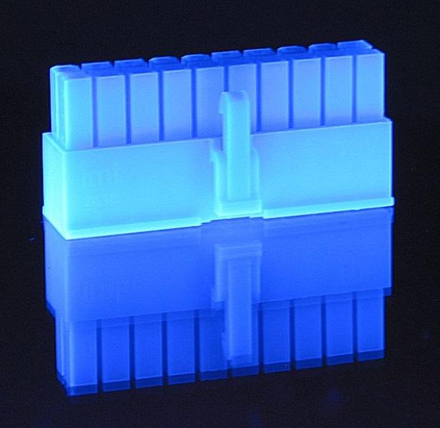 Crimp-Anschluss ATX 20-Pin Kupplung UV-blau
