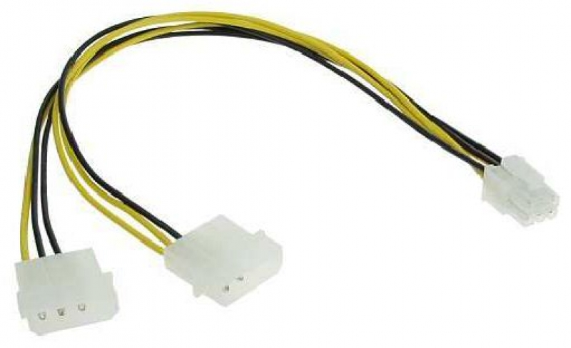 Stromadapter 4 Pin 5,25 [13,34cm] auf 6 Pin PCIe ...