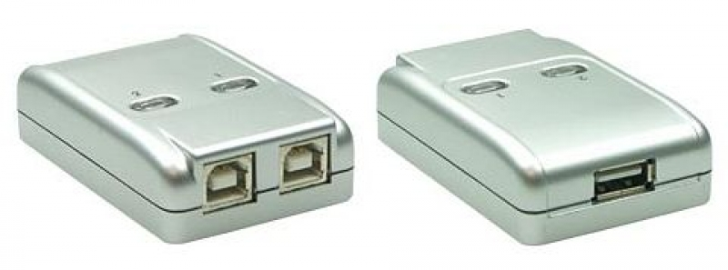 US B 2.0 Sharing- Switch 1x US B an 2-P Cs silber extern