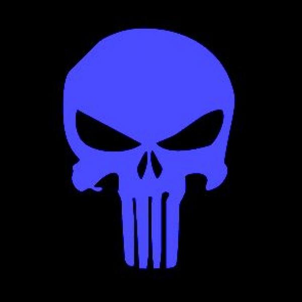 Window-Kit Aufkleber Punisher [19x17cm] UV-Blue