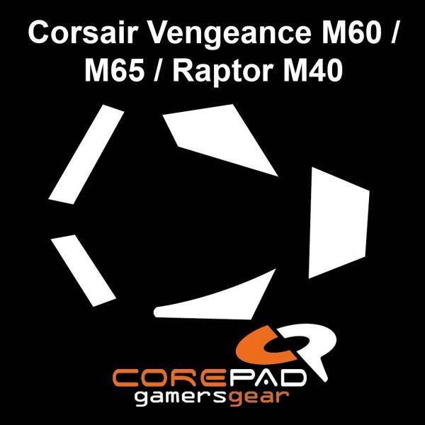 Corepad Skatez PRO  64 Mausfüße Corsair Vengeance M60 / M65 / Raptor M40