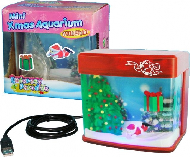 com xmas usb mini aquarium weihnachtsbaum rot. Black Bedroom Furniture Sets. Home Design Ideas