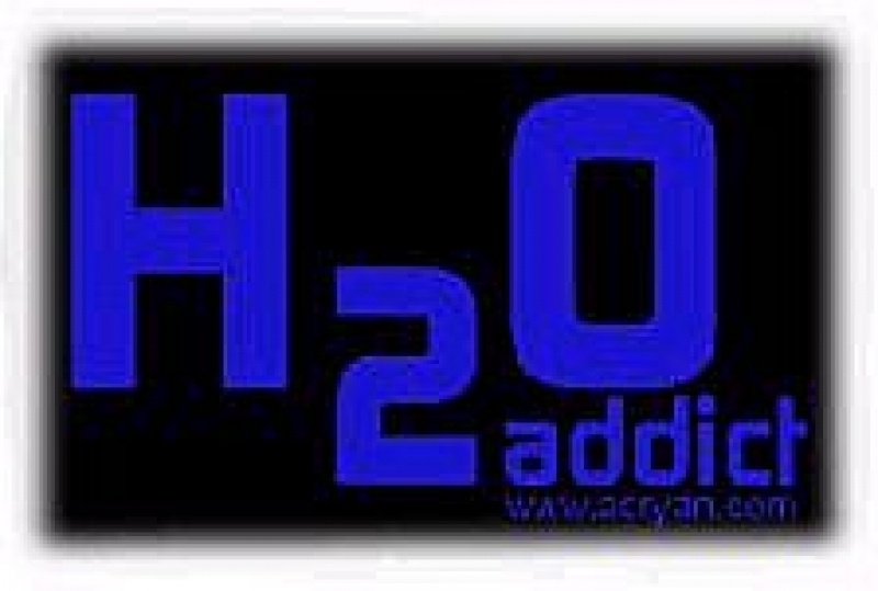 Window-Kit Aufkleber H2O Addict [11x19cm] UV-Blue