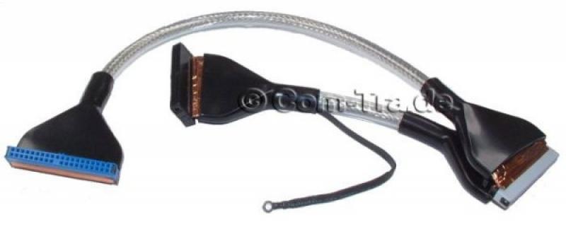 Airflow-IDE-Kabel ATA 33/66/100/133 2fach silver 60cm