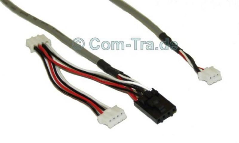 Audio-Kabel 4Pin schwarz&weiß auf 3 Pin weis SCSI