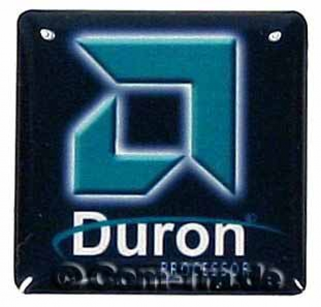 Case-Badge AMD Duron schwarz