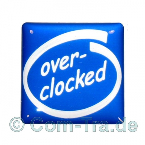 Case-Badge Overclocked blau