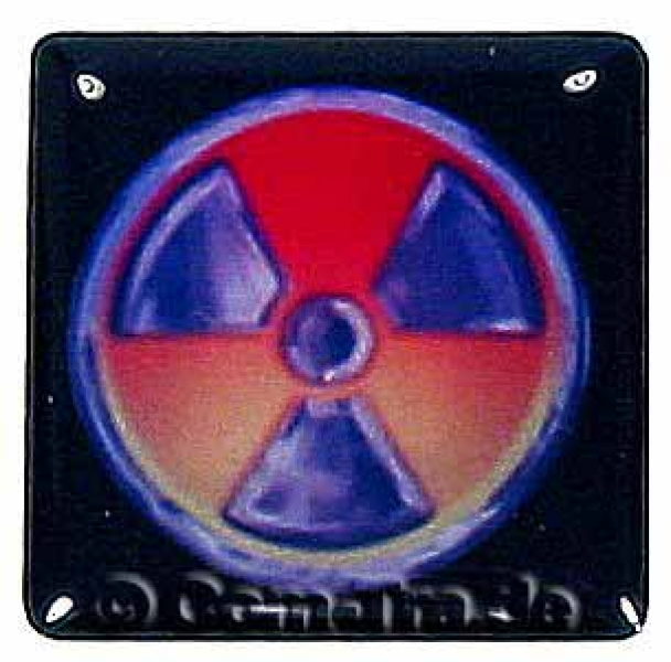 Case-Badge RADIOACTIVE gelb/orange