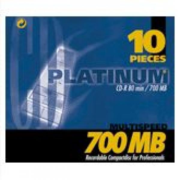 Platinum CD-R 700MB 80min 52fach 10er Softcase