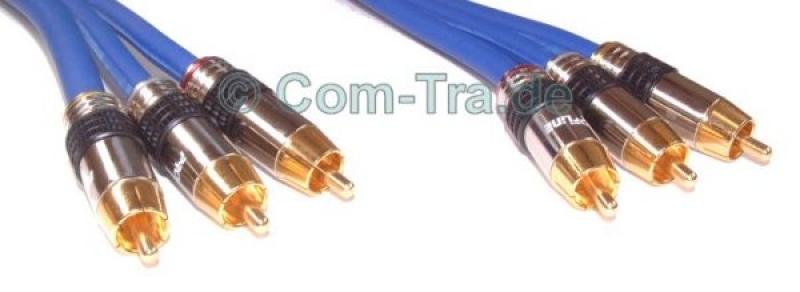 Cinch-Audio-/Video-PREMIUM-Kabel 3-fach 1000cm