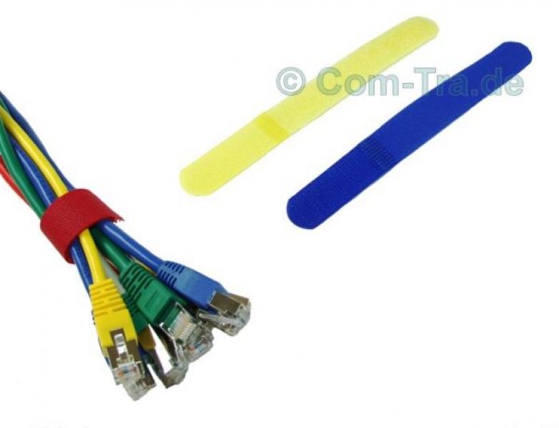 Nylon Kabelbinder Klett-Verschluss blau