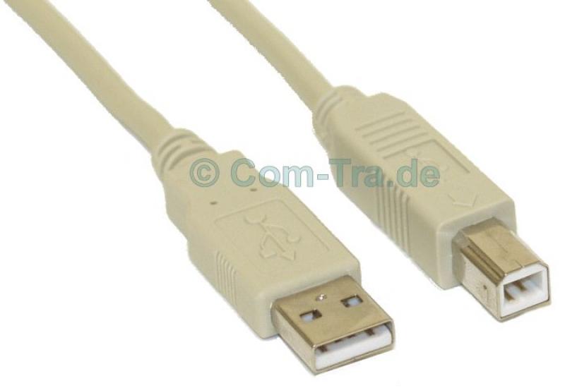 USB 2.0 Kabel Typ A Stecker auf Typ B Buchse 0,6m