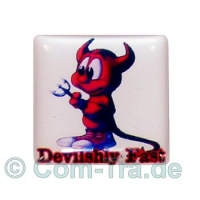 Case-Badge Devilshly FAST weiss